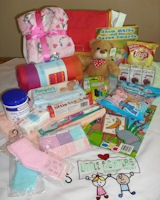 Content Child Bag of Hope toys blanket sweets etc